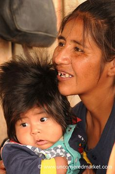 Mother and child from Bolivia.  Great hair