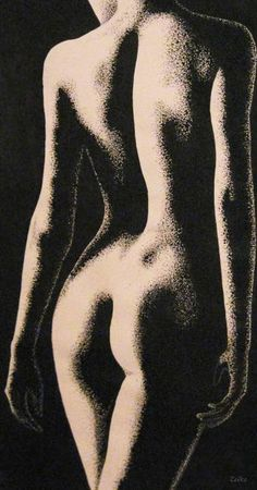 Original Drawing measuring 23.2 x 12.6 x 0.4 in by Zeiko Duka. Styles: Figurative, Modern, Realism. Subject: Nude. Keywords: passion, waoman, drawing, feeling, imagine, life, nude.