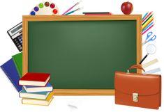 Back to school. Green desk with school supplies. Powerpoint Background Design, Vector Background, School Border, Green Desk, School Clipart, Borders And Frames, Backgrounds Free, Preschool Worksheets, Graphic Design Art