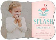 Fab Flamingo - Birthday Party Invitations in Tea Rose | Magnolia Press