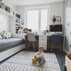 Ideas For Bedroom Kids Girls Ikea Boy Rooms Ikea Boys Bedroom, Ikea Kids Room, Small Room Bedroom, Trendy Bedroom, Diy Bedroom, Small Rooms, Guest Room Office, Kids Room Design, Room Decor