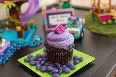 Cupcake from a Girl Themed Lego Party via Kara's Party Ideas | KarasPartyIdeas.com (12)