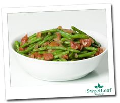 String Beans Rustica.  Sweetened with All Natural, Zero Calorie, Sugar Free Sweetleaf Stevia.  Healthy Thanksgiving appetizer recipes