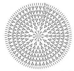 Beautiful diagram to crochet lace summer hats, crochet patterns Crochet Pillow Pattern, Crochet Tunic, Crochet Mandala, Crochet Diagram, Crochet Stitches Patterns, Doily Patterns, Crochet Chart, Crochet Motif, Crochet Doilies