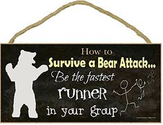 camping signs funny - Black How To Survive A Bear Attack Be Fastest Runner Funny Camping Sign >>> Be sure to check out this awesome product. (This is an affiliate link) Funny Camping Signs, Camping Jokes, Camping Guide, Camping Activities, Funny Signs, Camping Hacks, Glam Camping, Camping Parties, Cute Camping Outfits