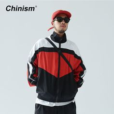 Cheap brand jacket, Buy Quality jacket brand directly from China track jacket Suppliers: CHINISM 2017 New Vintage Color Block Zip Up Jackets Brand Embroidery Stand Collar Contrast Jacket Hip Hop Casual Track Jackets
