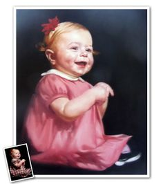 A traditional oil painting of your favorite little masterpiece :)