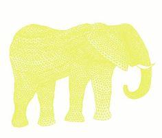 Yellow elefante