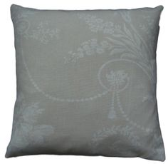 """Cushion Cover Made With Josette Linen French Toile Laura Ashley Fabric 14"""" Beige"""