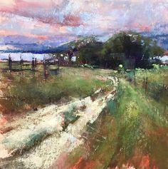 Gentle Stroll, Study by Jacob Aguiar Pastel ~ 8 x 8