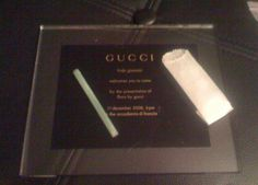 gucci dope plate c/o cat marnell