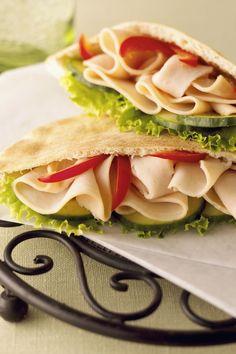 turkey pita sandwich