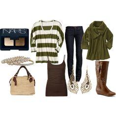 brown and green...yep.