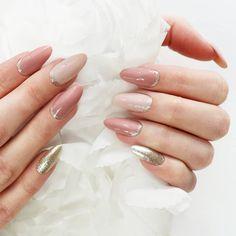 Pink Manicure, Glitter Gel Nails, Red Nails, Sparkle Nails, Gold Glitter, Gel Nail Colors, Gel Nail Art, Nail Ring, Nail Art Videos