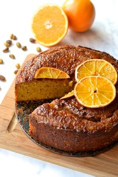 Orange, Pistachio and Almond Cake-paleo and grain free