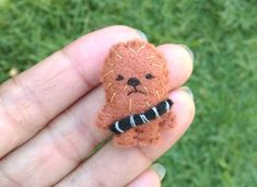 Felt Miniature Chewbacca Chewie Miniature Plush by PixiePumpkins