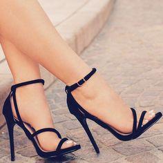 "ideservenewshoesblog: "" Desirable - Black Heels By Lolashoetique """