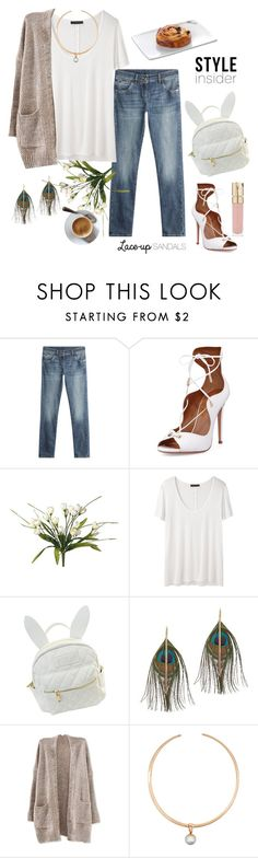 """Lace Up Sandals"" by rever-de-paris ❤ liked on Polyvore featuring Brunello Cucinelli, Aquazzura, The Row, cutekawaii, Serefina, Sidney Garber, Smith & Cult, Summer, contest and polyvoreeditorial"