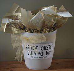 Senior Citizen Survival Kit - gift/gag gift #60 70 80 #birthday #party
