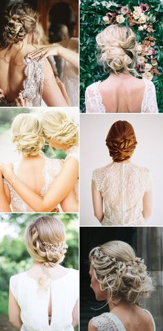 Relaxed Up Do // Wedding Hair Inspiration
