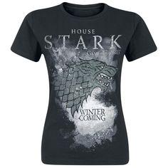 "Game Of Thrones T-Shirt, Women ""House Stark"" black • EMP"