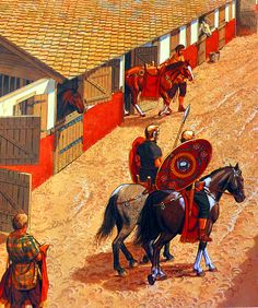 Roman cavalry stable in Gaul