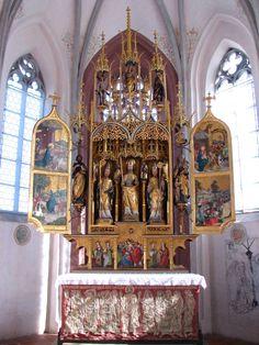Hochaltar, Kirche St. Blasius Kaufbeuren, um 1518, die zentralen Figuren sind jedoch um 1435 entstanden.