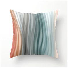 Decorative Throw Pillow Soft Pastel Bands  aqua by BonnieBruno, $35.00