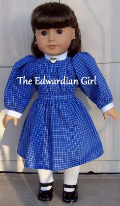 Three of a kind blue and white plaid Edwardian by TheEdwardianGirl
