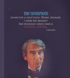 The Newsroom - i made the decision that the American people need a fucking lawyer.