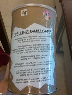 Spelling BAM Game is awesome for weekly spelling word practice! Teaching Language Arts, Classroom Language, Teaching Writing, Student Teaching, Writing Games, Writing Centers, Reading Centers, Teaching Spanish, Teaching Ideas