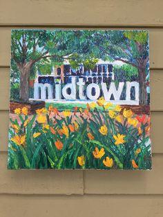 """Midtown Garden by Lauren Luna  20"""" x 20"""" Oil on Canvas www.artistaluna.com"""