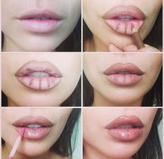 How To Beauty : Lip plumping trick to give you those gorgeous Angelina Jolie lips! #Lip_plumping