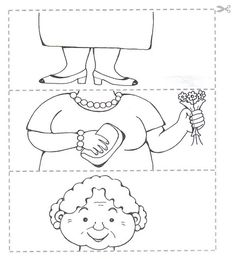 Crafts,Actvities and Worksheets for Preschool,Toddler and Kindergarten.Lots of worksheets and coloring pages. Preschool Puzzles, Preschool Worksheets, Art For Kids, Crafts For Kids, Grandparents Day Crafts, Puzzle Crafts, Family Theme, Pre School, Coloring Pages