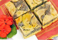 Obrácené makové řezy s jablky aneb rafinované  karamelizování Spanakopita, Quiche, Zucchini, Treats, Homemade, Vegetables, The Originals, Breakfast, Cake