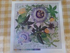 Elizabeth Bradley Climbing Flowers The Passion Flower Chart Wool Card Some Wool | eBay