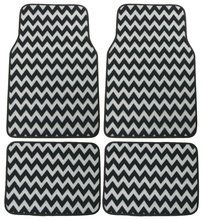 Chevron Car Floor Mat Carpet 4 Piece Set. Popular #chevron pattern for styling your car. Available at CarDecor.com.