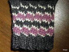 """""""Laiskanraitaa"""" (only in finnish. Knitting Stitches, Knitting Socks, Tunisian Crochet, Knit Crochet, Knit Basket, Wool Socks, Crochet Chart, Knitted Gloves, Designer Socks"""