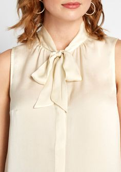 Sleeveless Blouse, Ruffle Blouse, Modcloth, Vintage Inspired, Button Up, Boss, Glass Ceiling, Chic, Label