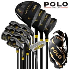 4afd687354e POLO Collections and Professional Gamer Titanium Alloy Rod of Driver Luxury  golf clubs complete full set carbon graphite shaft -in Golf Clubs from  Sports ...