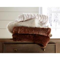 1c4a55d946 Lavish Home Cream Plush Croc Embossed Faux Fur Mink Throw