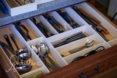 """How to build a drawer organizer with a piece of Sturdy Board and Elmer's Glue. Total cost: 2.49. """"Indeed My Heritage"""" blog."""