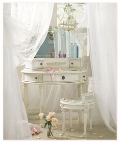 vintage vanity table | dressing table, mirror, pretty, vanity, vanity table, vintage ...
