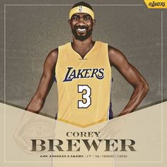 "40.5k Likes, 1,449 Comments - Los Angeles Lakers (@lakers) on Instagram: ""OFFICIAL: Lakers Acquire Corey Brewer and 2017 First Round Draft Pick in Trade With Rockets…"""