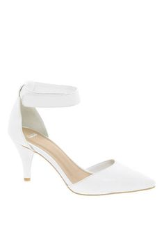 White ASOS Sonic Pointed Heels, $54.26; asos.com
