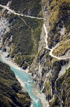 (PHOTO: Alamy)  The world's most dangerous roads:   Skippers Canyon Road, New Zealand (This road in New Zealand is as narrow as they come and was cut in the middle of a sheer cliff face 140 years ago, making it unbelievably scary. Constructed to give miners access to a gold-rich canyon, today Skippers Canyon Road's motorists must apply for a permit before attempting to tackle it. Most car insurance companies won't cover you in the event of an accident and the soft rock crumbles easily...)