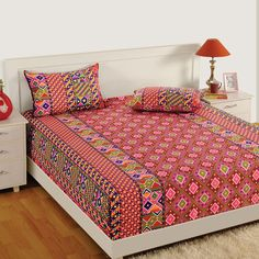 Buy Pink City Double Bed Sheet Online In Different Colors U0026 Design At Best  Prices From
