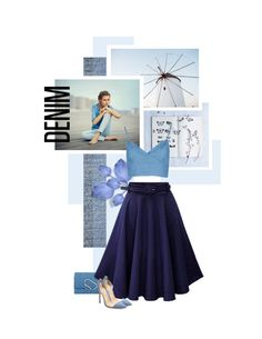 """All Denim"" by onemonday ❤ liked on Polyvore featuring DL1961 Premium Denim, 3.1 Phillip Lim, Gianvito Rossi, Summer, Blue, allblue and alldenim"