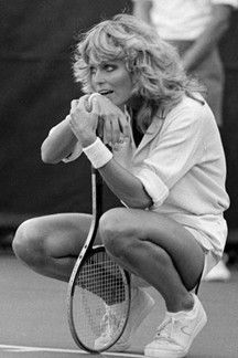 cannot tell you how much time and energy spend on trying to get this hair. Farrah Fawcett in a tennis match vintage -.