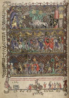 folio 21 verso-The Romance of Alexander - MS. Bodl. 264 © Bodleian Library-University of Oxford 1999